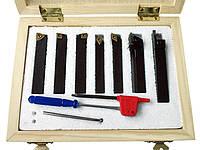 Набор токарных резцов по металлу (7 шт) 10х10 мм со сменными пластинами из цементированного карбида