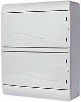 Корпус пластиковый, навесной, 26-модульный, 2 ряда, IP40, непрозрачная дверка