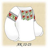 Заготовка сорочки для девочки для вышивания АК 12-23 Танец Маков