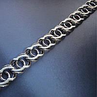 Серебряная цепочка, 550мм, 25 грамм, Арабский бисмарк, чернение