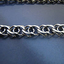 Серебряная цепочка, 550мм, 15 грамм, Арабский бисмарк, чернение, фото 2