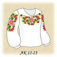 Заготовка сорочки для девочки для вышивания АК 12-25 Щедрость Лета