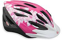 Велошлем Bell Shasta розовый/белый Flowers, Uni (50-57) (GT)