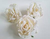 Роза искусственная бархатистая, головка