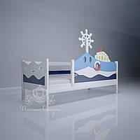 """Кровать детская декорированная """"Морячок""""+борт, фото 1"""