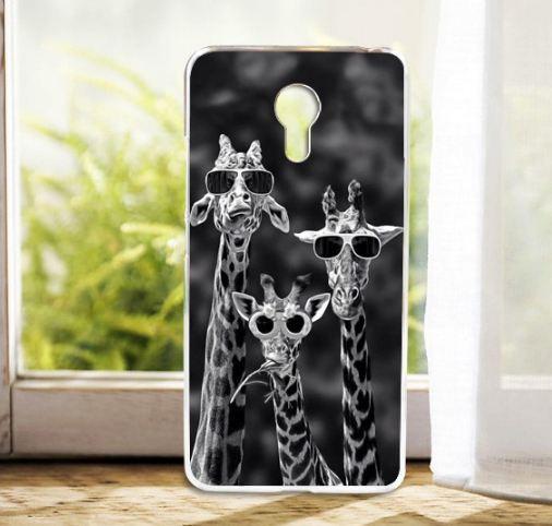 Силиконовый чехол бампер для Meizu M3 Note с картинкой жирафы