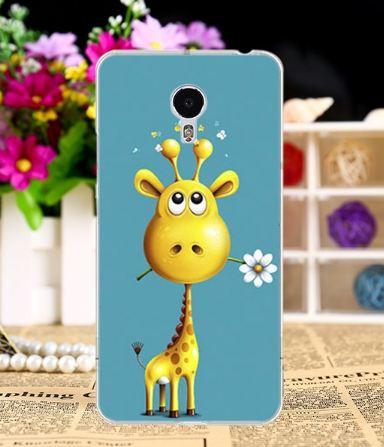 Силиконовый чехол бампер для Meizu M3 Note с картинкой жирафик