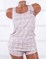 Женский комплект майка+шорты Турция PinkSecret 3652-R