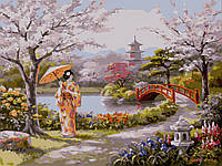 Картина раскраска по номерам без коробки Идейка Нарисованный рай (KH2810) 40 х 50 см