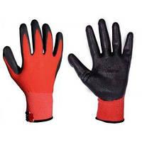 Перчатки трикотажные бесшовные с нитриловым покрытием ладони