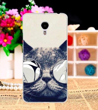 Силиконовый чехол бампер для Meizu M3 Note с картинкой котяра