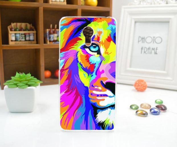 Силіконовий чохол бампер для Meizu M3 Note з картинкою різнобарвний лев