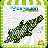 """Ортопедический массажный коврик с цветными камнями """"Крокодил"""" 146 х 50 см"""