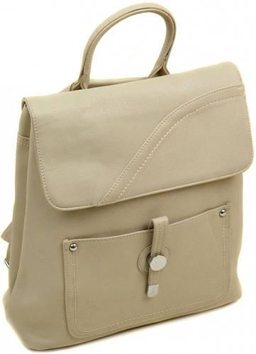 Женский оригинальный рюкзак из искусственной кожи 12 л. 06-1 16207 khaki, хаки
