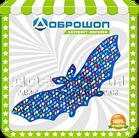 Ортопедический коврик для ребенка с цветными камнями «Летучая Мышь» 143х50 см