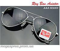 Очки Ray Ban Aviator Black Silver. ААА качество. Стекло RB3025-3026  Комплект. cc5ae651472