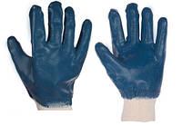 Перчатки масло-бензостойкие утепленные, нитриловое покрытие, вязаный манжет