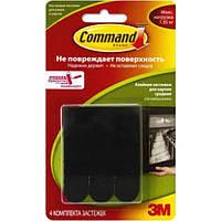 Легкоудаляемые сцепляемые клейкие застежки для рамок, картин, пенокартона Command 3M 17201 BLK, средние (макс.