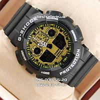Часы Casio G-Shock ga-100 Black-Gold. Реплика ТОП качества!, фото 1