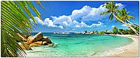 Кафель панно  Пляж, вид на море. Печать на кафеле, плитка 20х30см.
