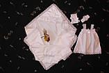 "Набор для крещения ""Валенсия "" для девочки 4 предмета, фото 3"