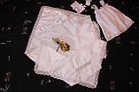 "Набор для крещения ""Валенсия "" для девочки 4 предмета, фото 4"