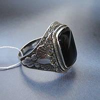 Серебряный мужской перстень Орел с ониксом