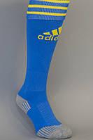 Гетры футбольные  Adidas classic синие с желтым, фото 1
