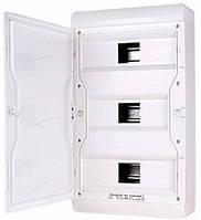 Корпус пластиковый, навесной, 37-модульный, 3 ряда, IP55, непрозрачная дверка, фото 1