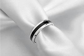 Классические обручальные парные титановые кольца Platina b