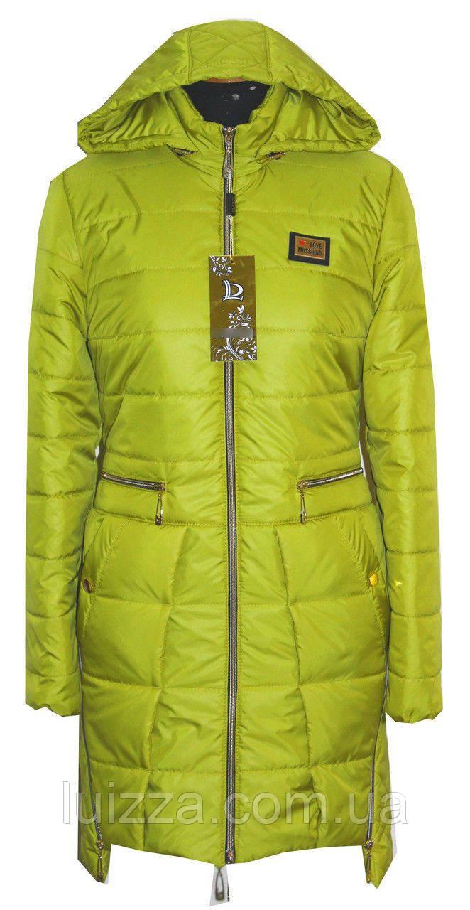 Жіноча подовжена куртка -плащ 42-44р яблуко