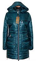 Женская куртка - плащ деми  до большого размра 44-60р малахит