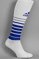 Гетры футбольные  Adidas TEAM SPEED Белые с синим