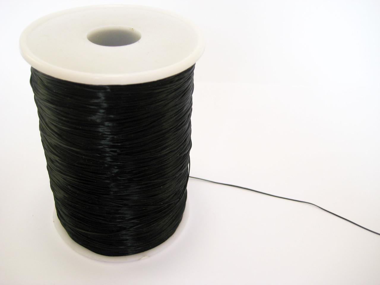 Резинка для бисера Черная 1000м