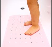 Противоскользящий коврик для ванной розовый