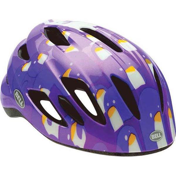 Велошлем детский Bell Zipper фиолетовый Penguins, Uni (47-54) (GT)