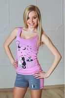 Пижама с шортиками женская
