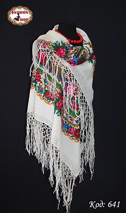Настоящий белый платок шерстяной Украинский , фото 2
