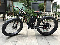 Электровелосипед LKS Fatbike Чёрно-красный (Фэтбайк) Electro Rear Drive 500W