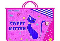 Портфель на 2 отделения с молнией Sweet Kitten CFS CF30001-02