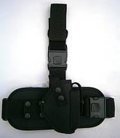 Кобура набедренная для пистолета ПМ с чехлом для магазина, черная