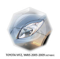 Реснички на фары Toyota YARIS 2005-2009 г.в. (хетчбек) Тойота Ярис