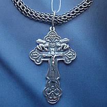 Серебряный крестик с распятием и ангелами, фото 2