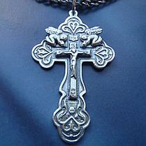 Серебряный крестик с распятием и ангелами, фото 3