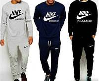 Спортивный костюм мужской Nike (серый, синий, черный), фото 1