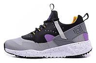 Мужские кроссовки Nike Air Huarache (Найк Хуарачи) серые