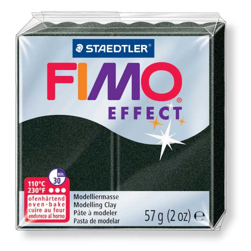 Полимерная глина пластика Фимо Эффект Fimo Effect 56 г - черный жемчуг 907