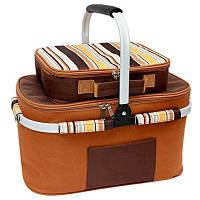 Набор сумка изотермическая для пикника кемпинга на 4 персоны