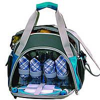 Набор сумка изотермическая для пикника кемпинга на 6 персон