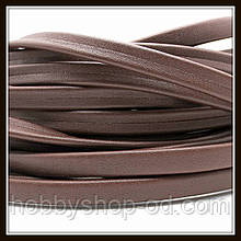 Шнур шкіряний 10*3 мм, колір шоколадний (20 см)